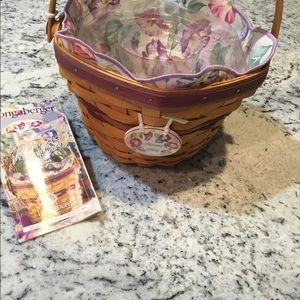 Longaberger Morning Glory Basket 5pc. Combo🧺